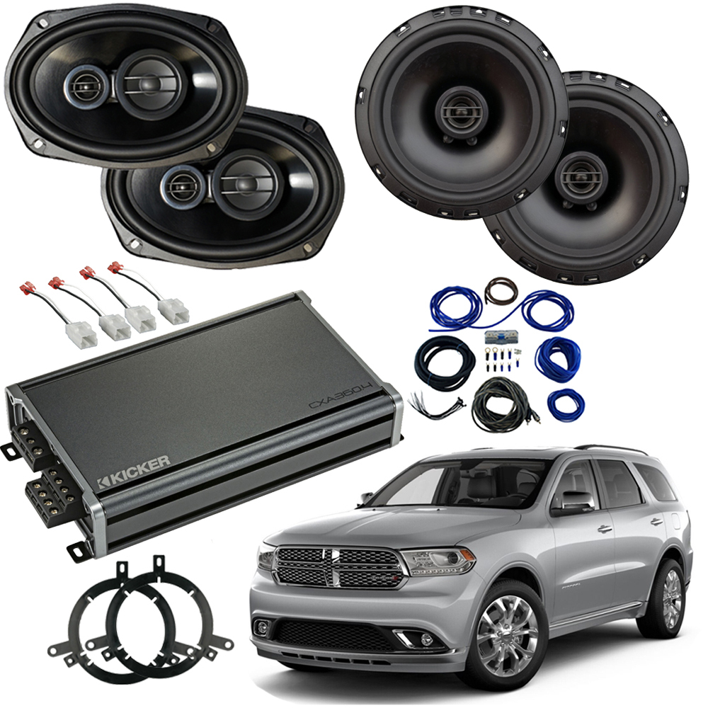 Dodge Durango 2014-2019 Factory Speaker Upgrade Package Harmony R65 R69 CXA300.4