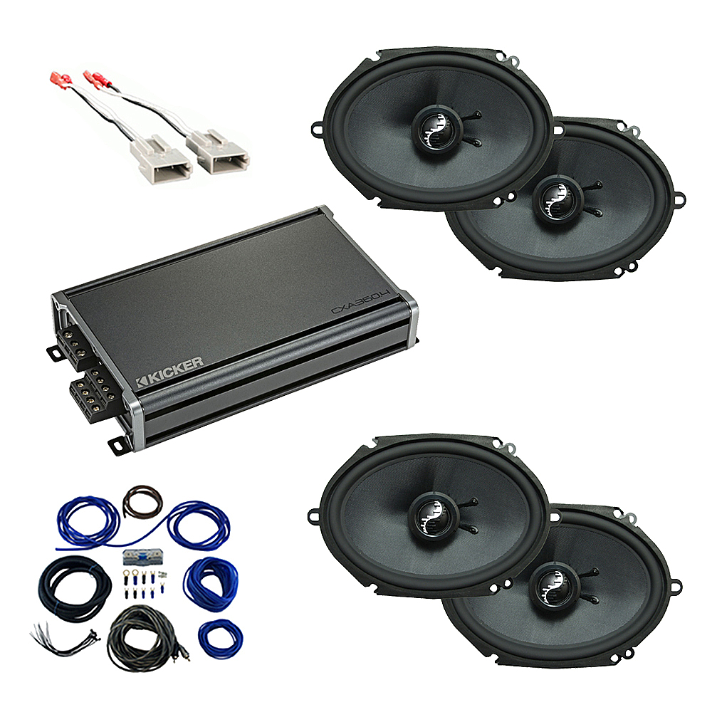 Compatible with Ford Econoline 2014-2018 Premium Speaker Replacement Package Harmony C68 CXA360.4