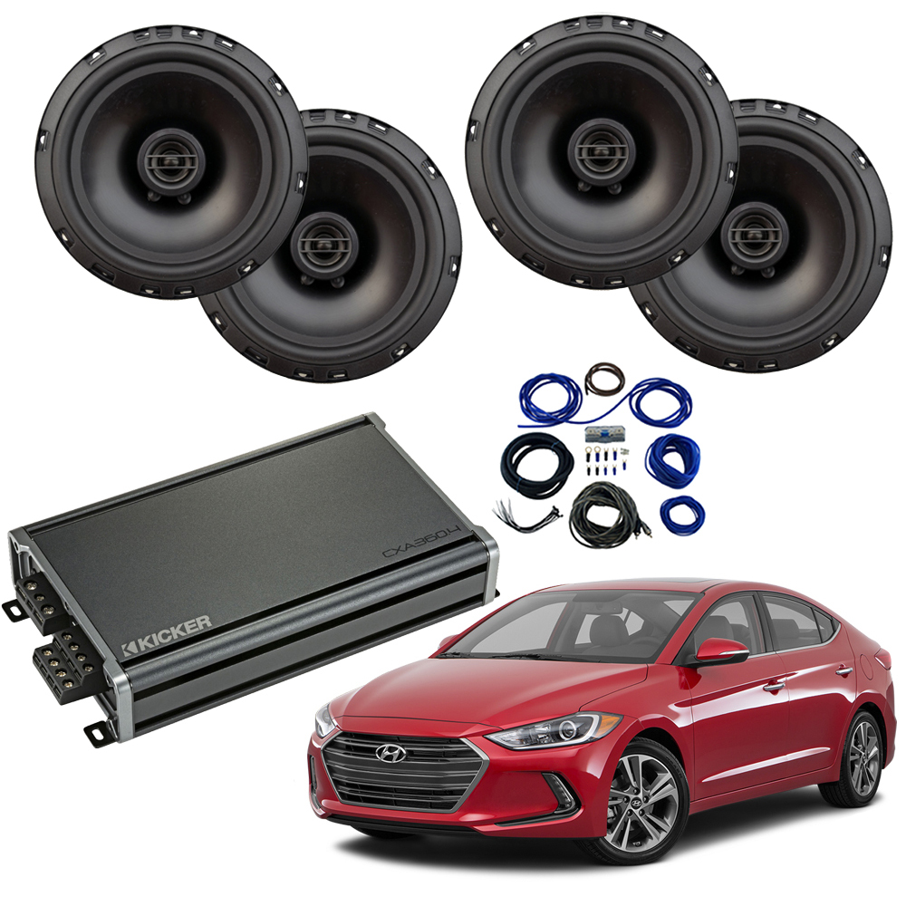 Compatible with Hyundai Elantra 2017-2019 Factory Speaker Replacement Harmony R65 CXA300.4