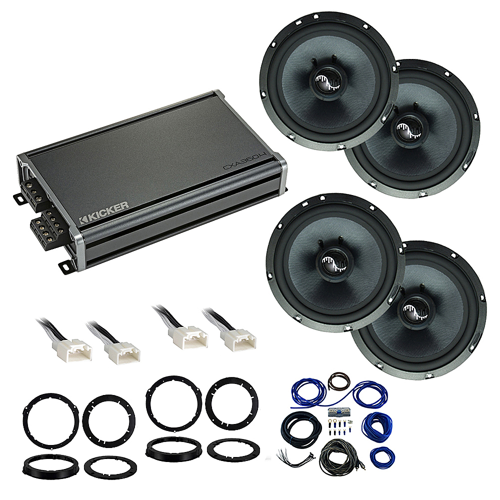 Compatible with Ford Focus 2015-2018 Premium Speaker Replacement Package Harmony C65 CXA360.4 Amp