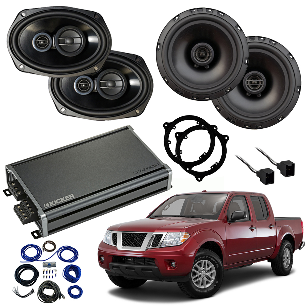 Compatible with Nissan Frontier 2014-2019 Factory Speaker Replacement Package R65 R69 CXA300.4