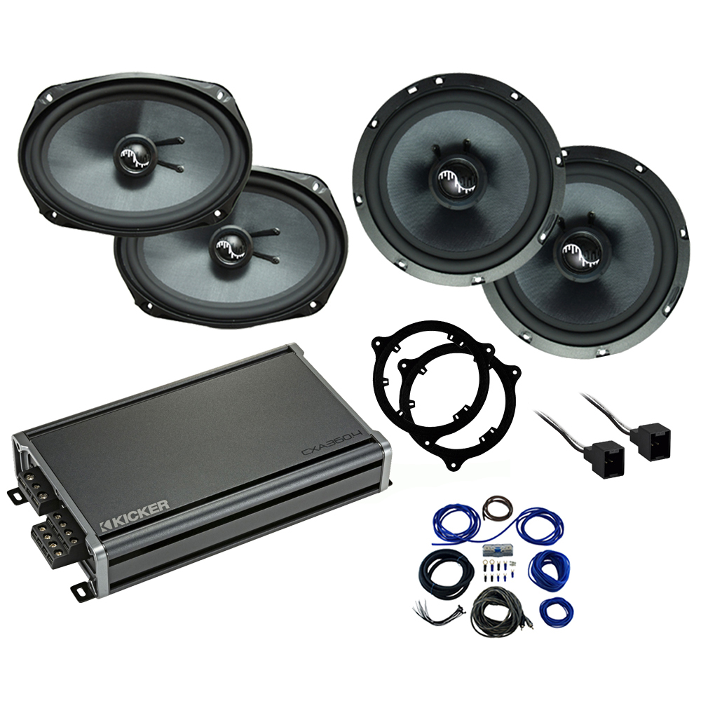 Compatible with Nissan Frontier 2014-2019 Premium Speaker Replacement Package C65 C69 CXA360.4