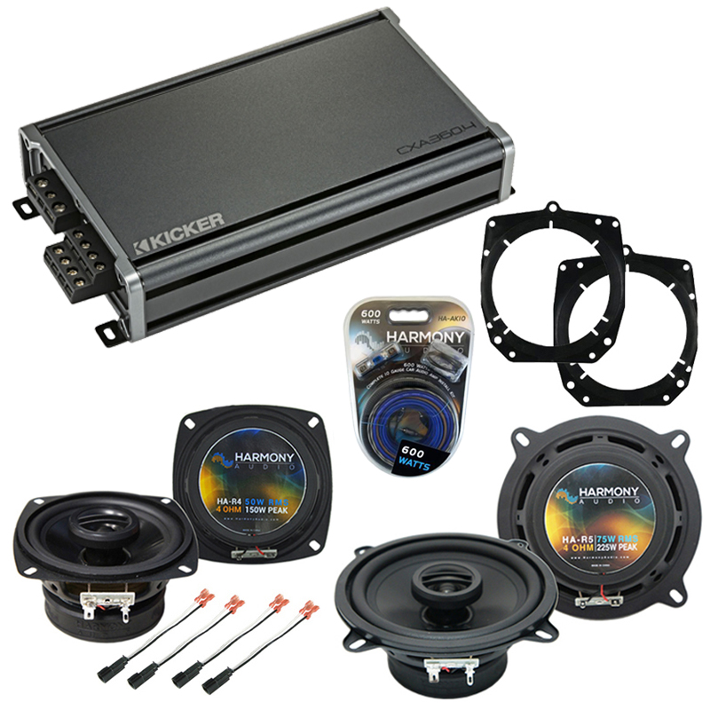 Compatible with Chevy Metro 1995-1999 Factory Speaker Replacement Harmony R4 R5 & CXA360.4 Amp
