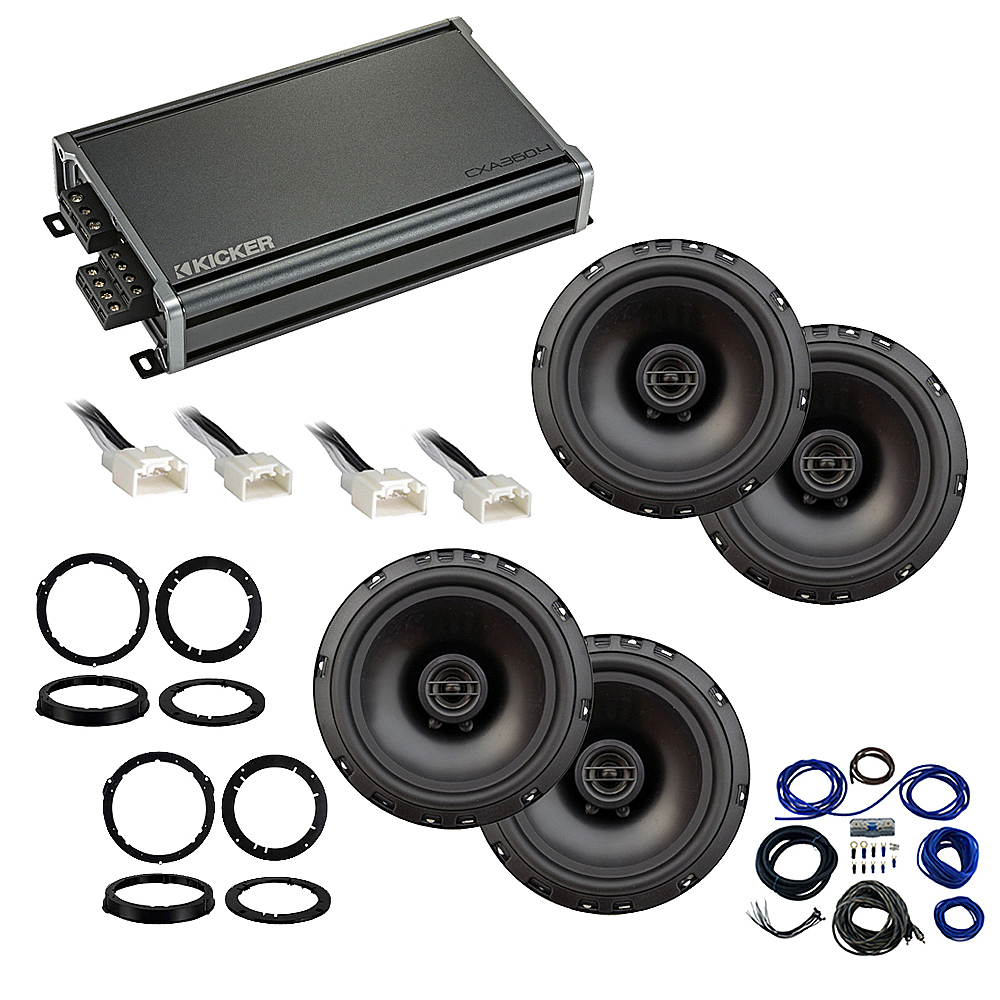 Compatible with Ford Mustang 2015-2018 Factory Speaker Replacement Package Harmony R65 CXA360.4