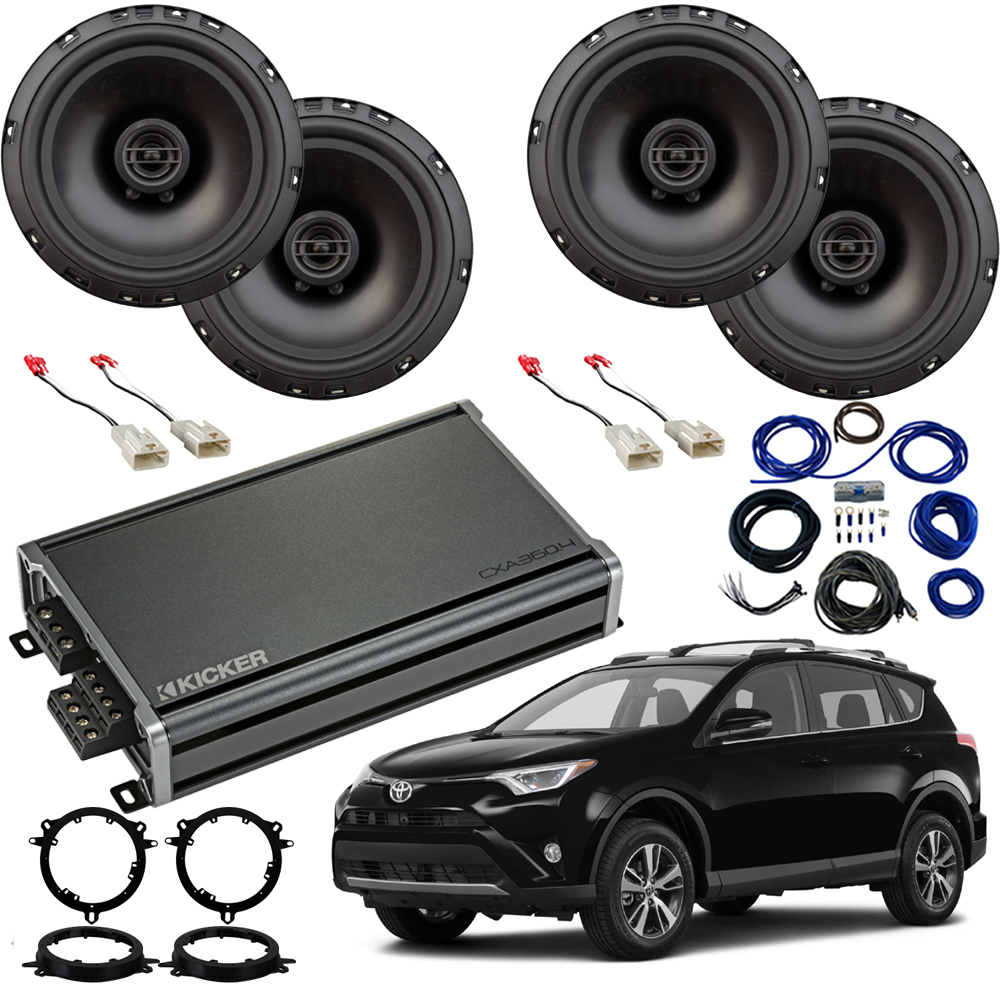 Compatible with Toyota RAV-4 2014-2018 Factory Speaker Replacement Package Harmony R65 CXA300.4