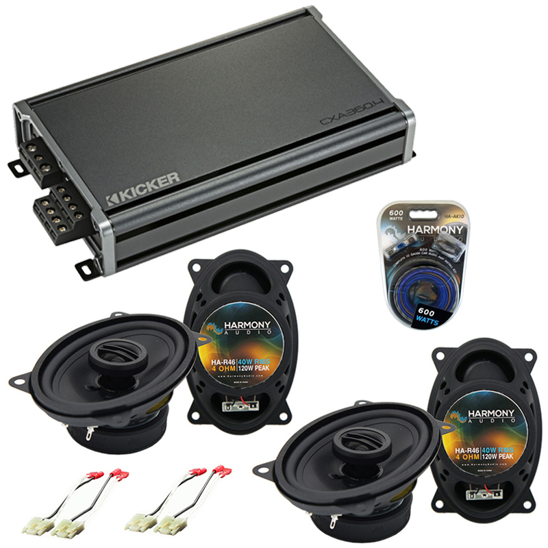 Compatible with Chevy Blazer 1992-1994 Factory Speaker Replacement Harmony (2)R46 & CXA360.4 Amp