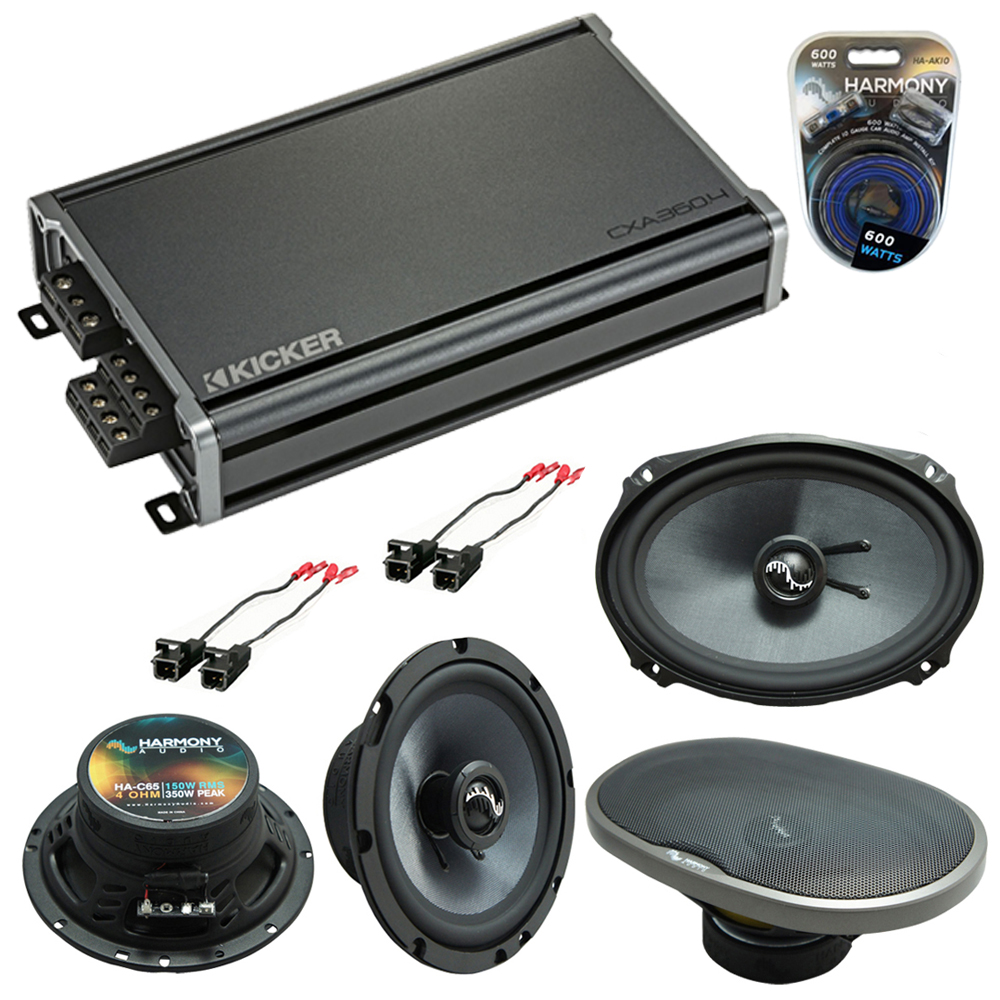 Compatible with Chevy Camaro 2010-2015 Factory Speakers Replacement Harmony C65 C69 & CXA300.4