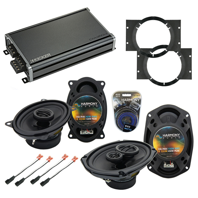 Compatible with Chevy Cavalier 1995-2005 OEM Speaker Replacement Harmony R46 R69 & CXA360.4 Amp
