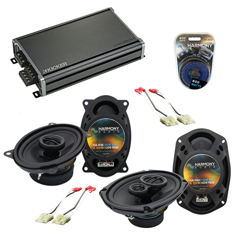 Compatible with Chevy Celebrity 1984-1990 OEM Speaker Replacement Harmony R46 R69 & CXA300.4 Amp
