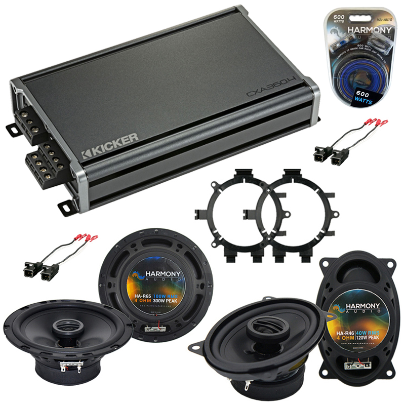 Compatible with Chevy CK Pickup 1995-2000 OEM Speaker Replacement Harmony R5 R46 & CXA360.4 Amp