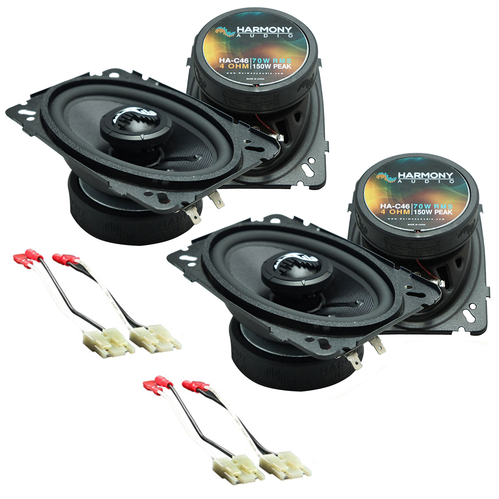 Harmony Audio Bundle Compatible with 1988-1994 Chevy CK Truck (Full Size) (2) HA-C46 New Premium Factory Speaker Replacement Upgrade Package HA-724500 Speaker Replacement Harness