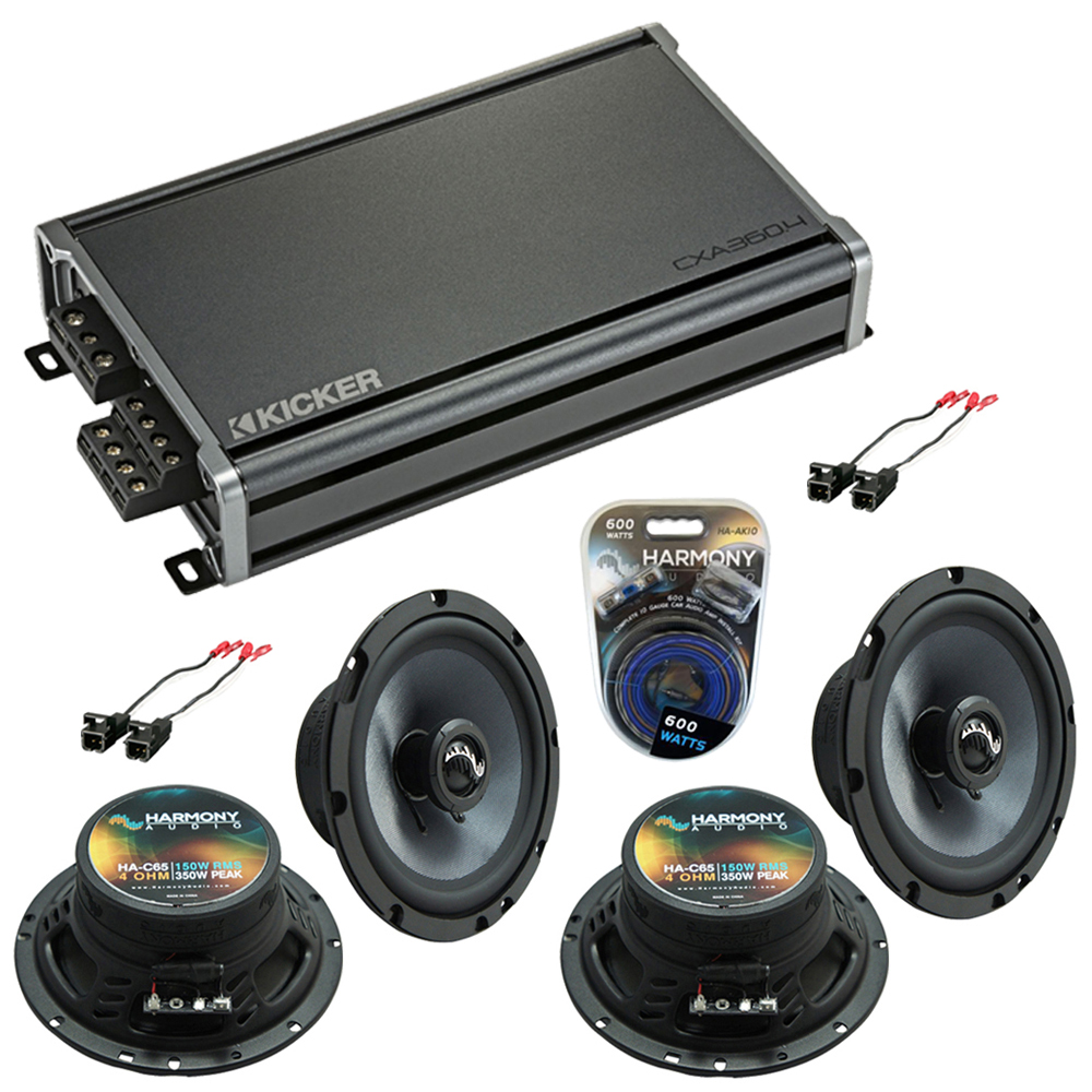 Compatible with Chevy Colorado 2004-2012 Factory Speakers Replacement Harmony (2) C65 & CXA360.4