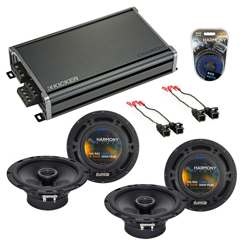 Compatible with Chevy Colorado 2004-2012 Factory Speaker Replacement Harmony (2) R65 & CXA300.4 Amp