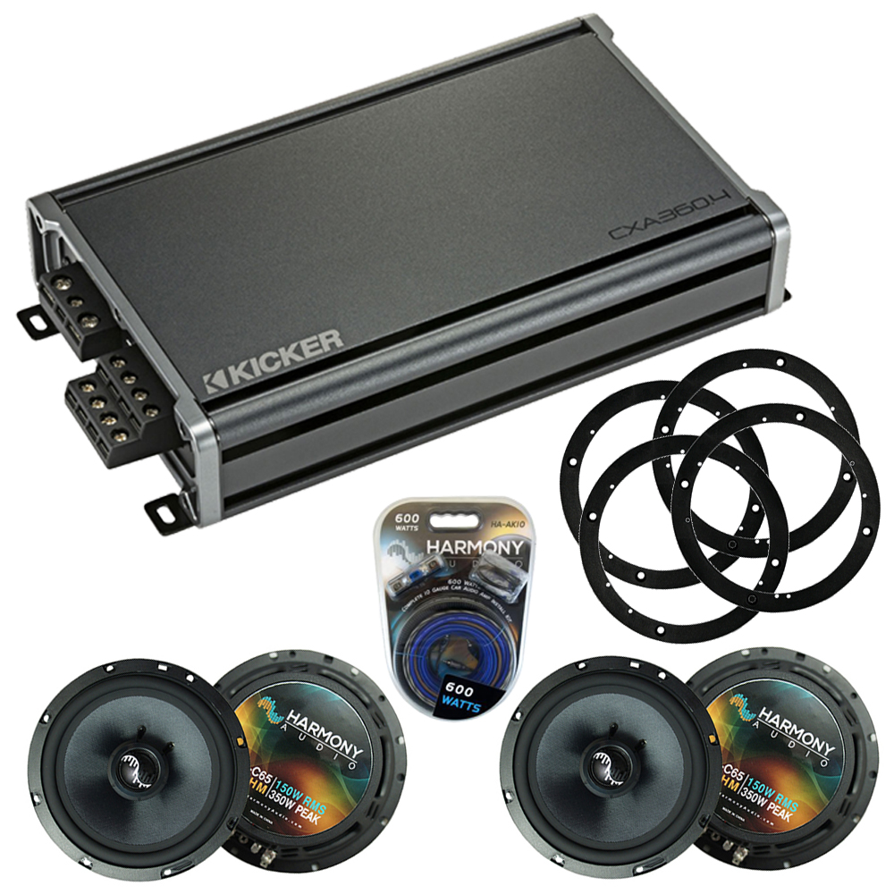 Compatible with Chevy Equinox 2005-2006 Factory Speakers Replacement Harmony (2) C65 & CXA300.4