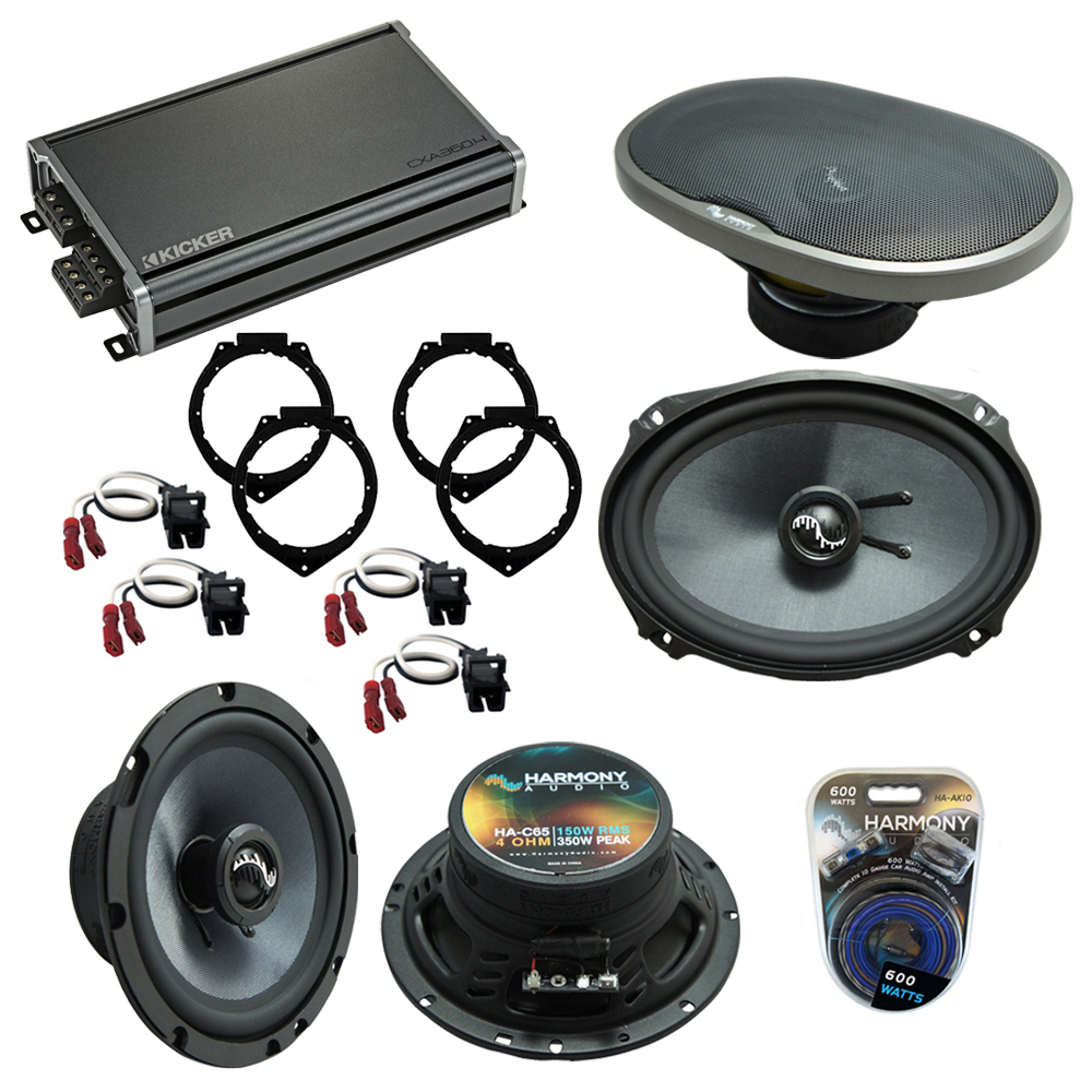 Compatible with Chevy HHR 2006-2012 OEM Speakers Replacement Harmony C65 C69 & CXA300.4 Amp
