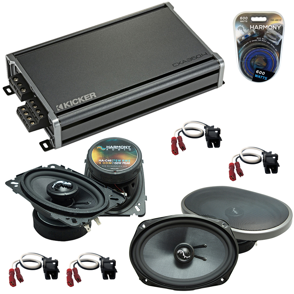 Compatible with Chevy Impala SS 1994-1996 Speakers Replacement Harmony C46 C69 & CXA300.4 Amp