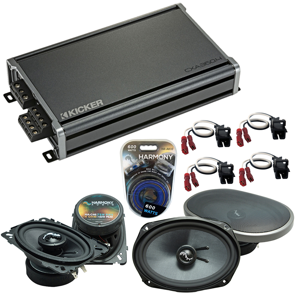 Compatible with Chevy Lumina 1990-1994 Factory Speakers Replacement Harmony C46 C69 & CXA300.4