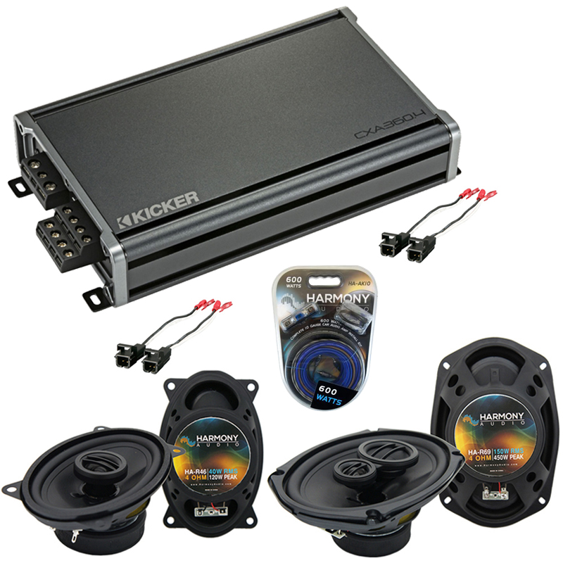 Compatible with Chevy Lumina 1990-1994 Factory Speaker Replacement Harmony R46 R69 & CXA360.4 Amp