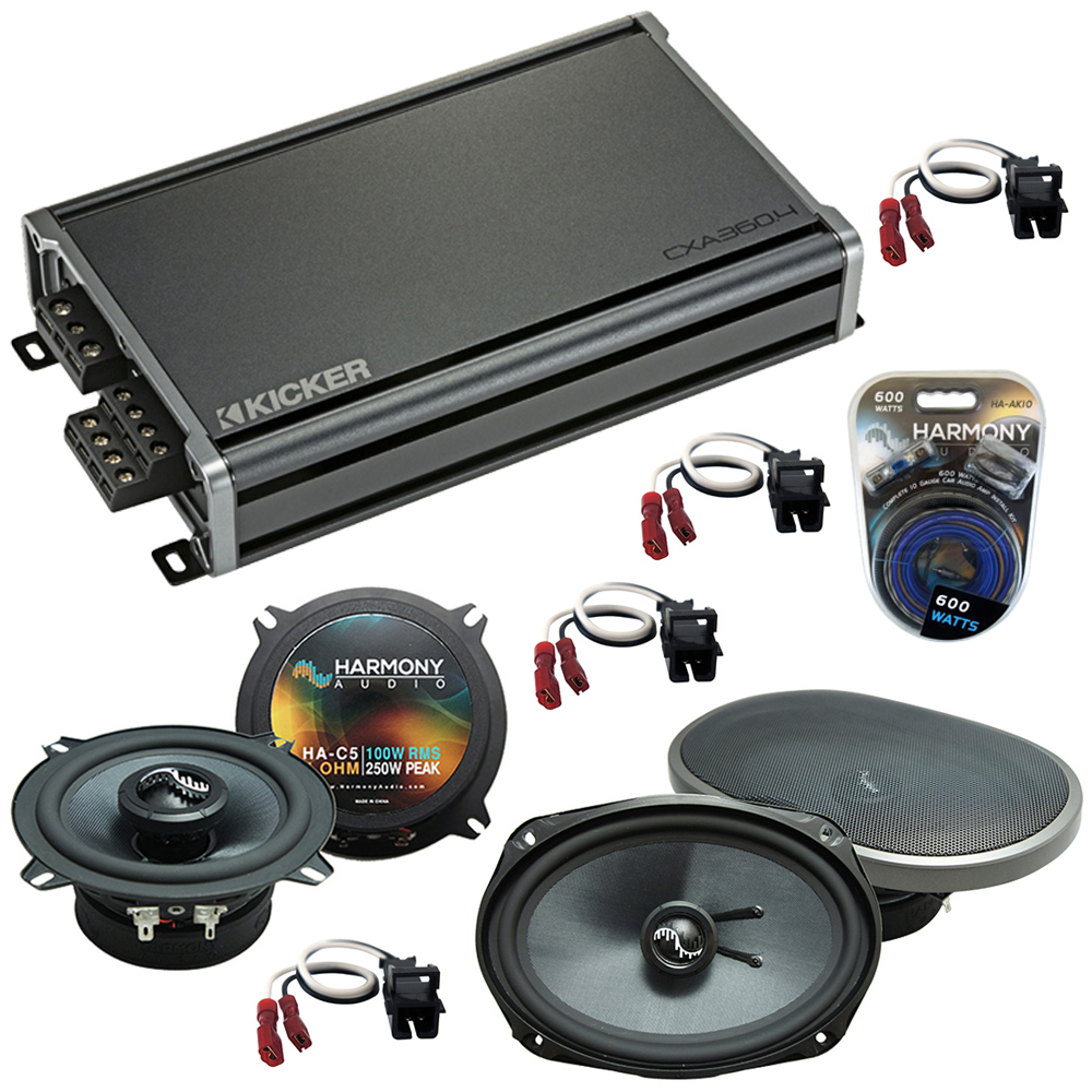Compatible with Chevy Lumina 1995-2001 Factory Speakers Replacement Harmony C5 C69 & CXA300.4