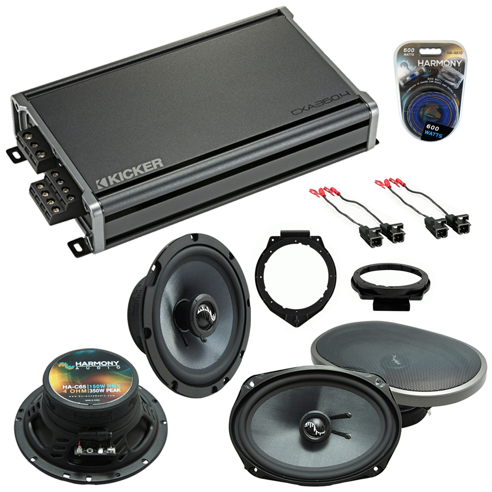 Compatible with Chevy Malibu Classic 2008 Speakers Replacement Harmony C65 C69 & CXA300.4 Amp