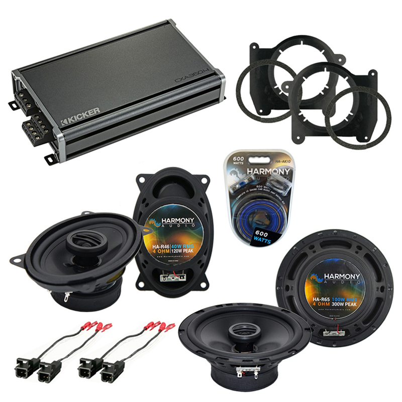 Compatible with Chevy S-10 Truck 2002-2004 OEM Speaker Replacement Harmony R46 R65 & CXA300.4 Amp