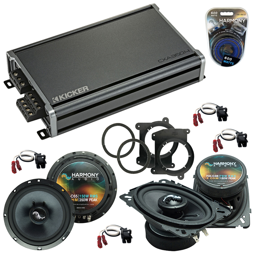 Compatible with Chevy S-10 Truck 1994-2001 OEM Speakers Replacement Harmony C46 C65 & CXA300.4
