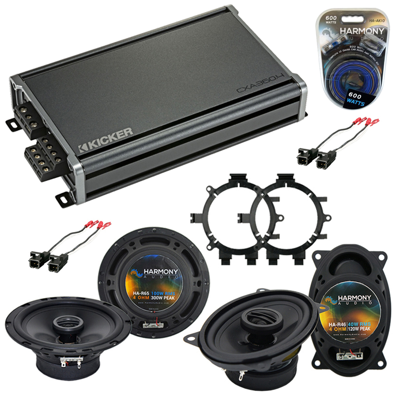 Chevy Silverado Pickup 99-06 Speaker Upgrade Harmony R5 R46 & CXA300.4 Amp