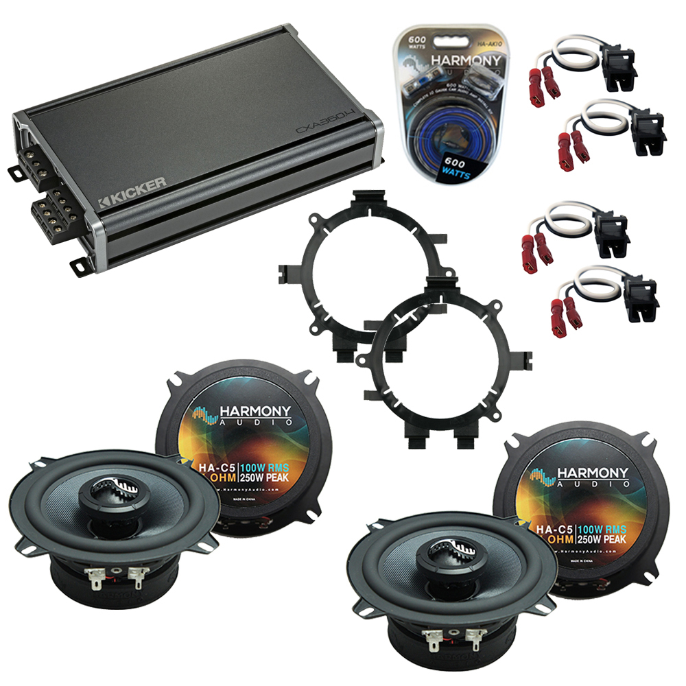 Compatible with Chevy Silverado Truck 2007-2013 Speakers Replacement Harmony C5 & CXA300.4 Kit