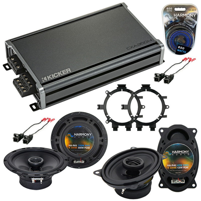 Compatible with Chevy Silverado Pickup Classic 2007 Speaker Replacement Harmony Speakers & CXA360.4