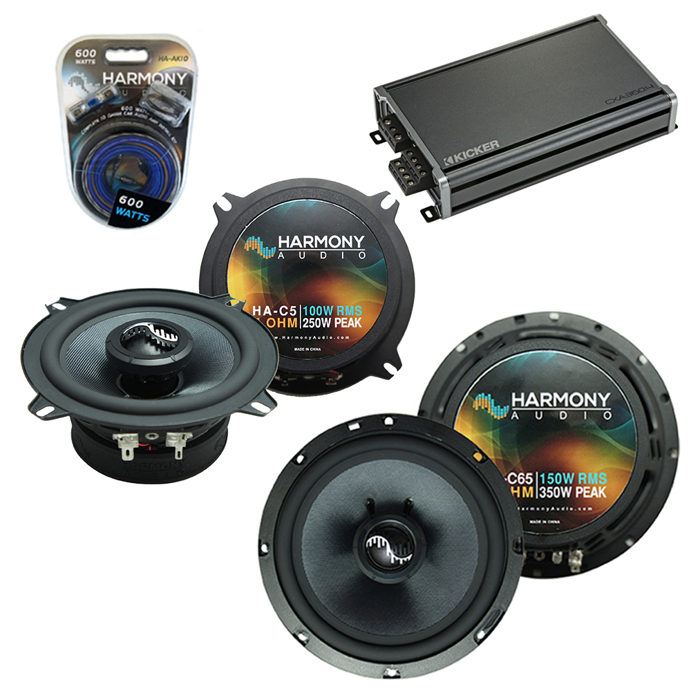 Compatible with Chevy Suburban 2007-2014 Factory Speakers Replacement Harmony C65 C5 & CXA300.4