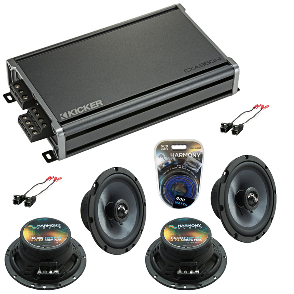 Compatible with Chevy Trailblazer 2002-2009 OEM Speakers Replacement Harmony (2) C65 & CXA300.4