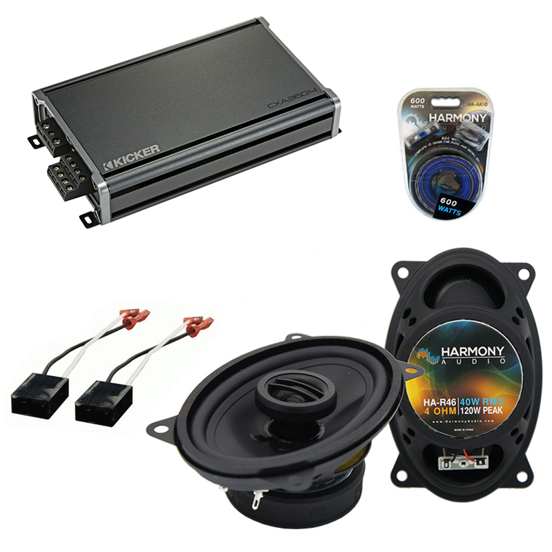 Compatible with Chevy Van (Full Size) 1988-1995 OEM Speaker Replacement Harmony R46 & CXA360.4 Amp