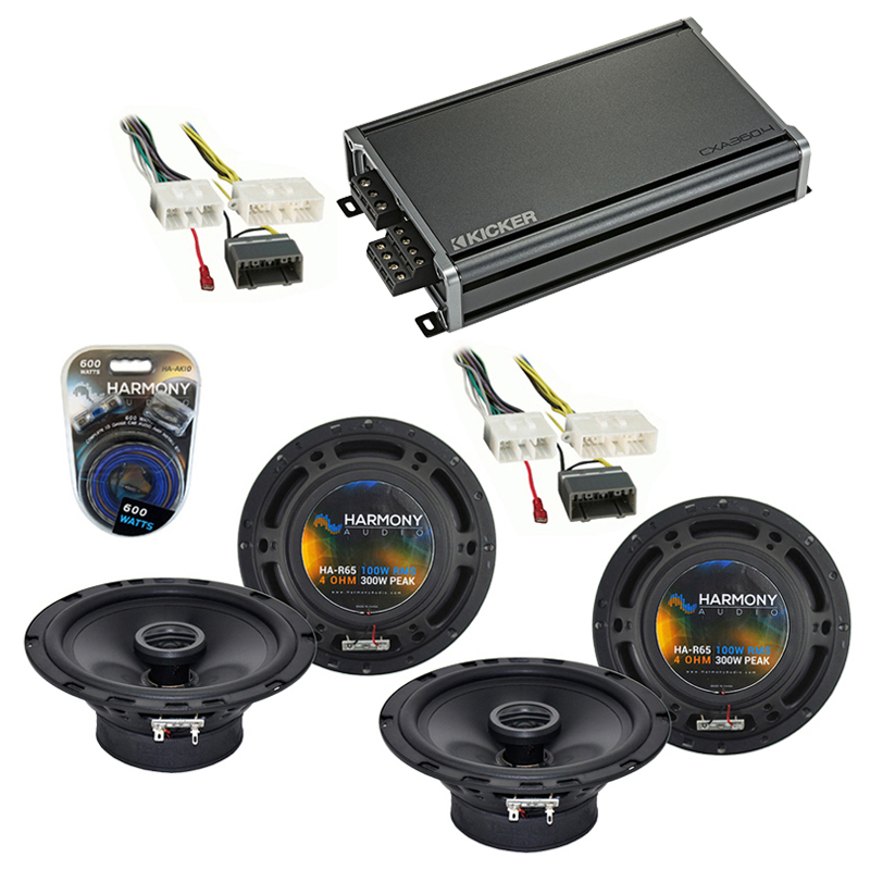 Compatible with Chrysler Aspen 2007-2007 Factory Speaker Replacement Harmony (2) R65 & CXA360.4 Amp