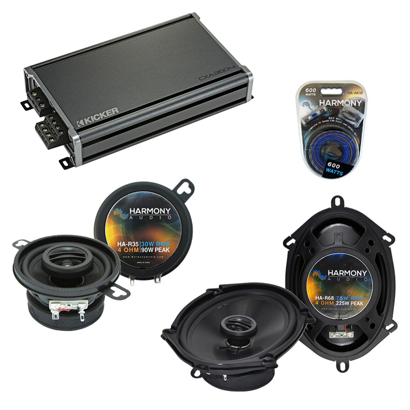 Compatible with Chrysler E-Class 1984-1993 OEM Speaker Replacement Harmony R35 R68 & CXA300.4 Amp