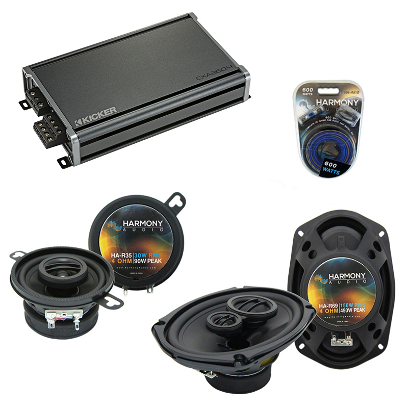Compatible with Chrysler Fifth Avenue 79-83 Speaker Replacement Harmony R35 R69 & CXA300.4 Amp