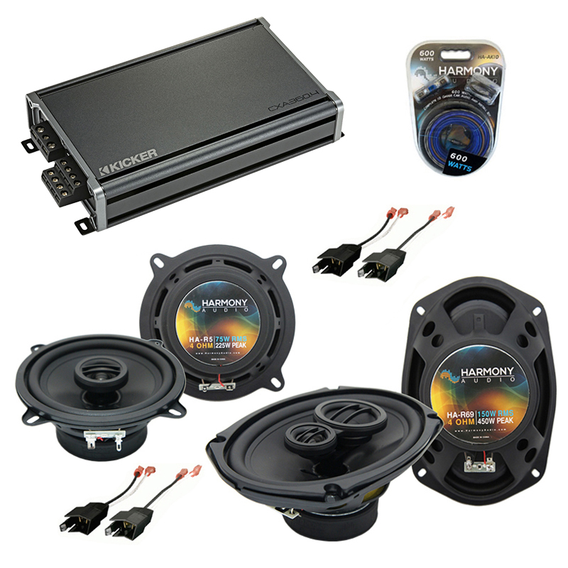 Compatible with Chrysler Fifth Avenue 84-93 OEM Speaker Replacement Harmony R5 R69 & CXA300.4 Amp