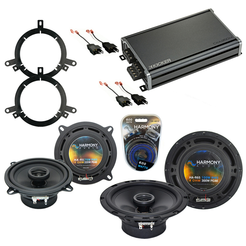 Compatible with Chrysler LHS 1999-2001 OEM Speaker Replacement Harmony R65 R5 & CXA360.4 Amp