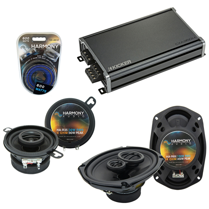 Compatible with Chrysler Yorker 75-83 OEM Speaker Replacement Harmony R35 R69 & CXA300.4 Amp