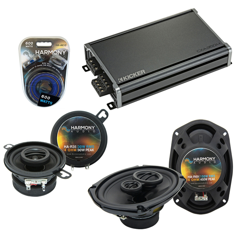Compatible with Chrysler Yorker 94-96 OEM Speaker Replacement Harmony R35 R69 & CXA300.4 Amp