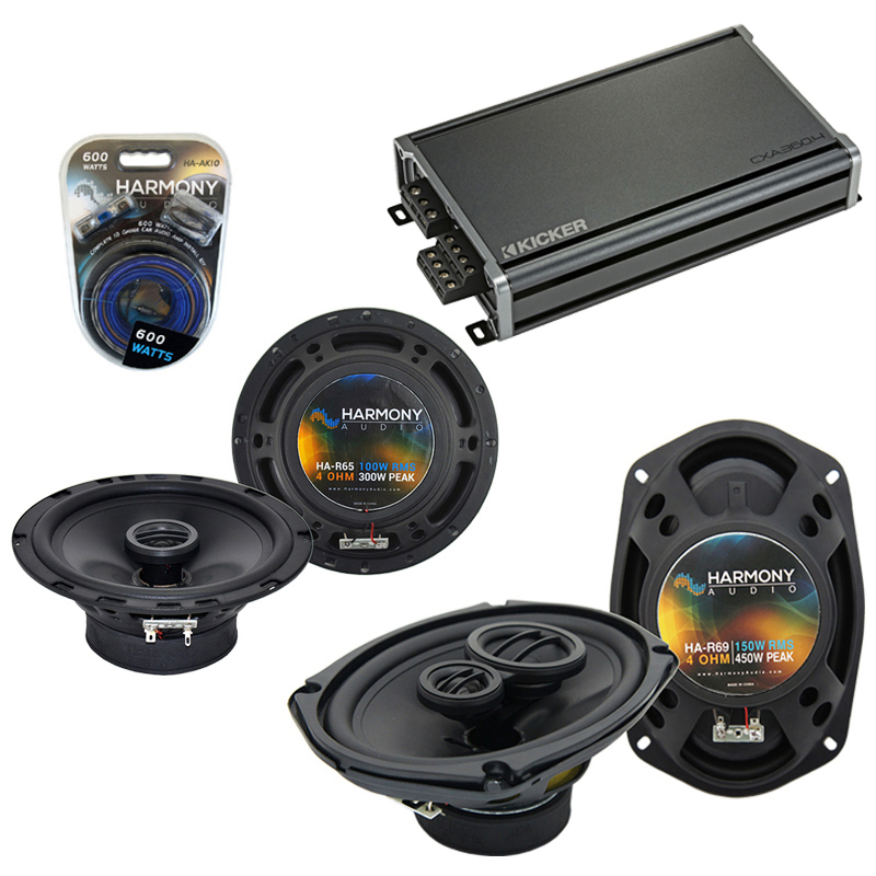 Compatible with Chrysler Sebring Coupe 02-06 Speaker Replacement Harmony R65 R69 & CXA300.4 Amp
