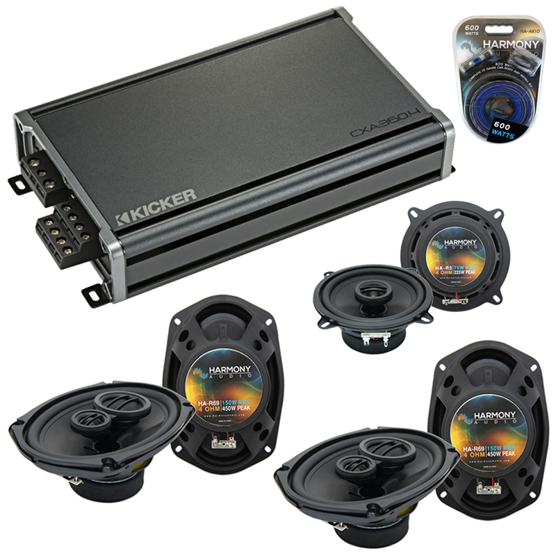 Compatible with Chrysler Town & Country 08-15 OEM Speaker Replacement Harmony Speakers & CXA300.4 Amp