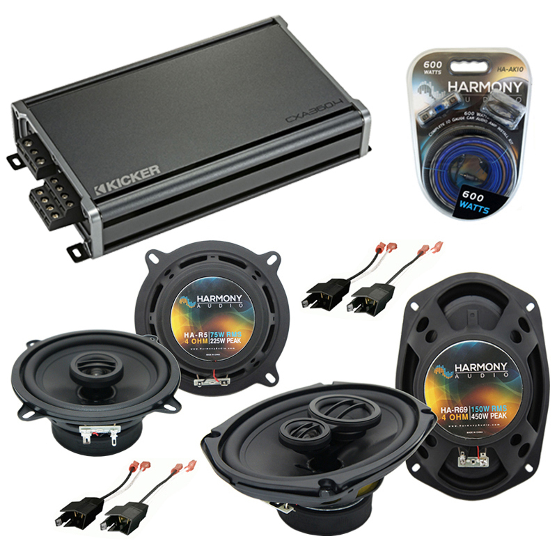 Dodge Caravan 1984-2000 Factory Speaker Upgrade Harmony R5 R69 & CXA300.4 Amp