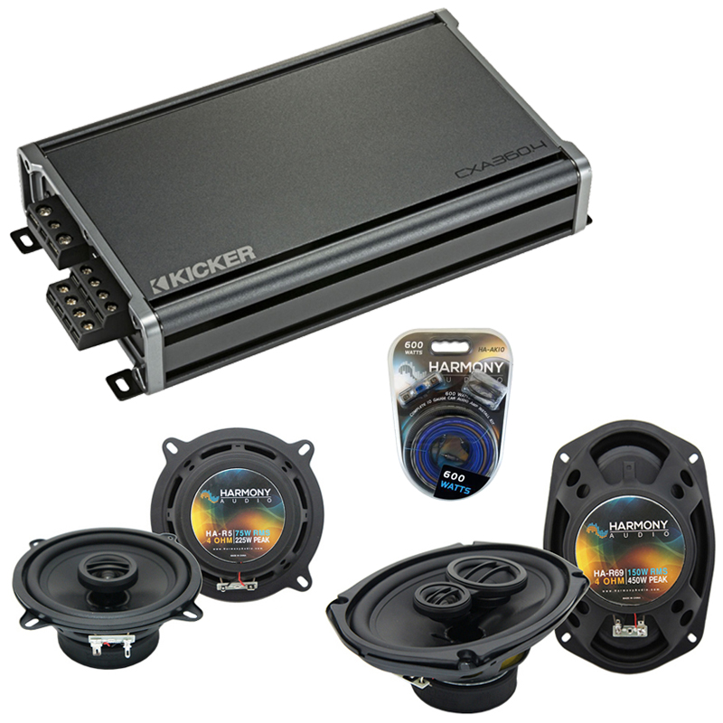 Compatible with Dodge Challenger 2008-2014 OEM Speaker Replacement Harmony R69 R5 & CXA360.4 Amp