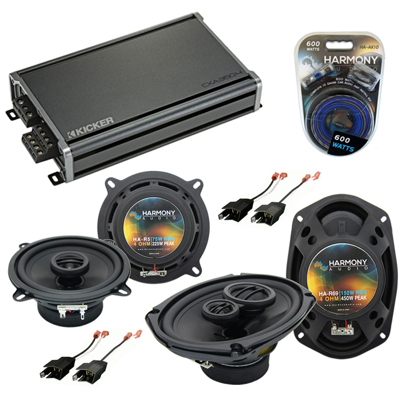 Compatible with Dodge Charger 1984-1987 Factory Speaker Replacement Harmony R5 R69 & CXA300.4 Amp