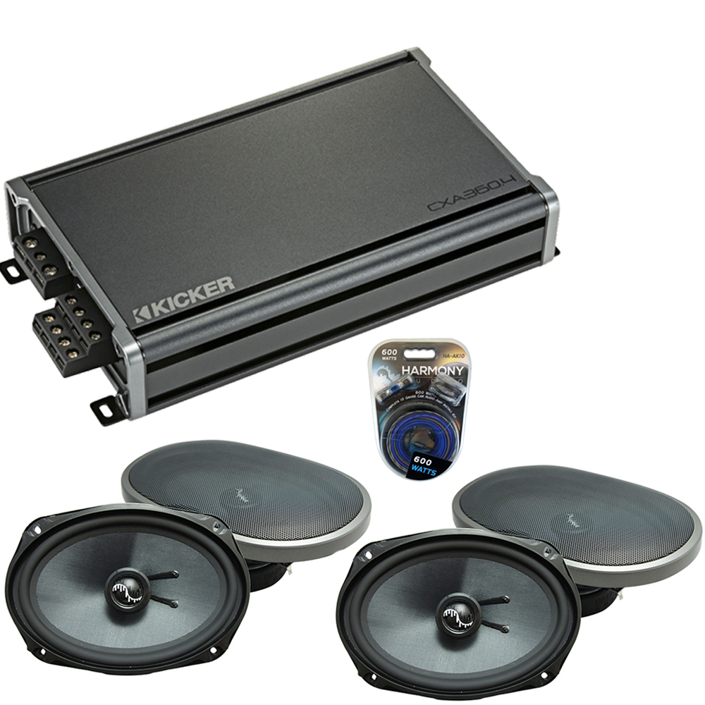 Compatible with Dodge Charger 2005-2010 Factory Speakers Replacement Harmony (2) C69 & CXA300.4