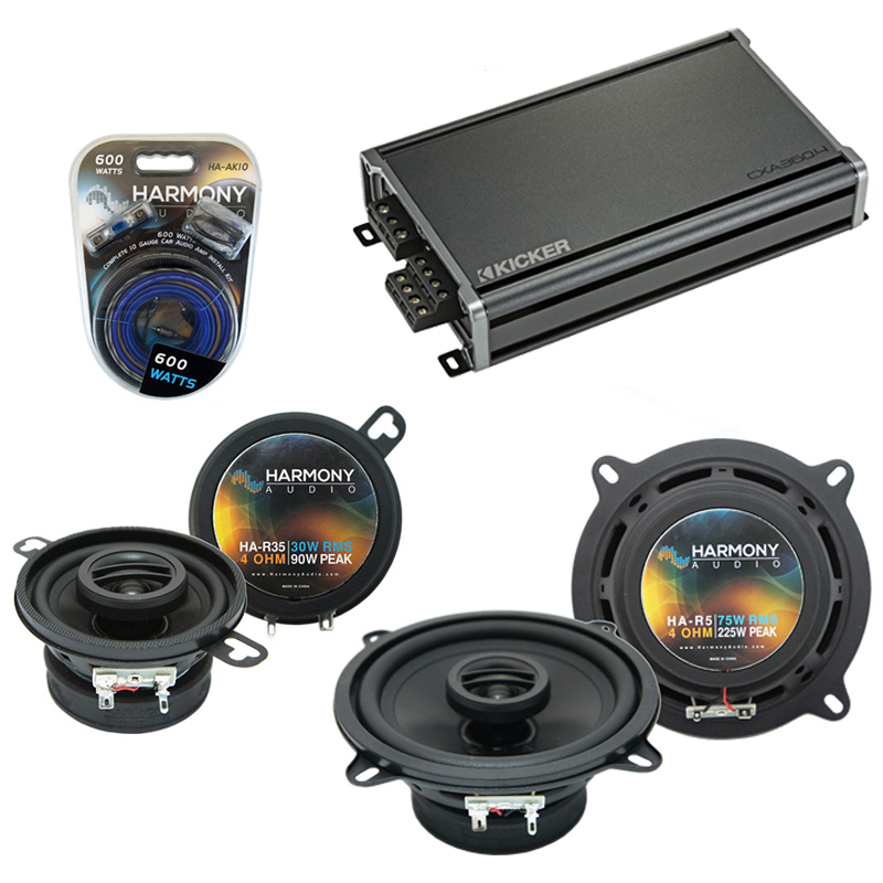 Dodge Colt Vista 1986-1986 OEM Speaker Upgrade Harmony R35 R5 & CXA300.4 Amp