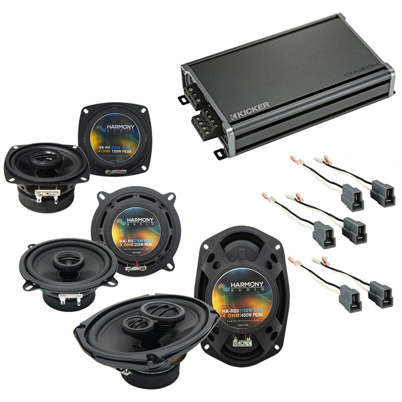 Compatible with Dodge Colt Vista 92-94 OEM Speaker Replacement Harmony R5 R4 R69 & CXA300.4 Amp