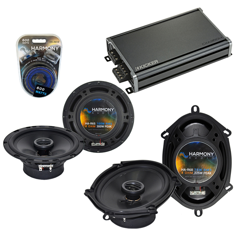 Dodge Dakota 1987-1996 Factory Speaker Upgrade Harmony R65 R68 & CXA300.4 Amp