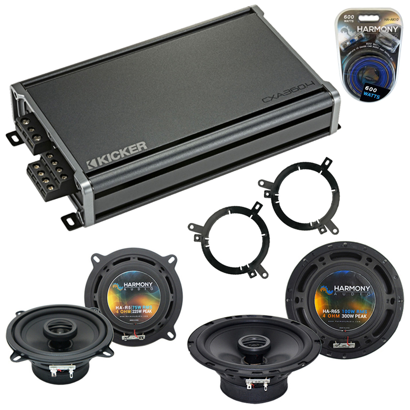 Dodge Dakota 2001-2001 Factory Speaker Upgrade Harmony R65 R5 & CXA300.4 Amp