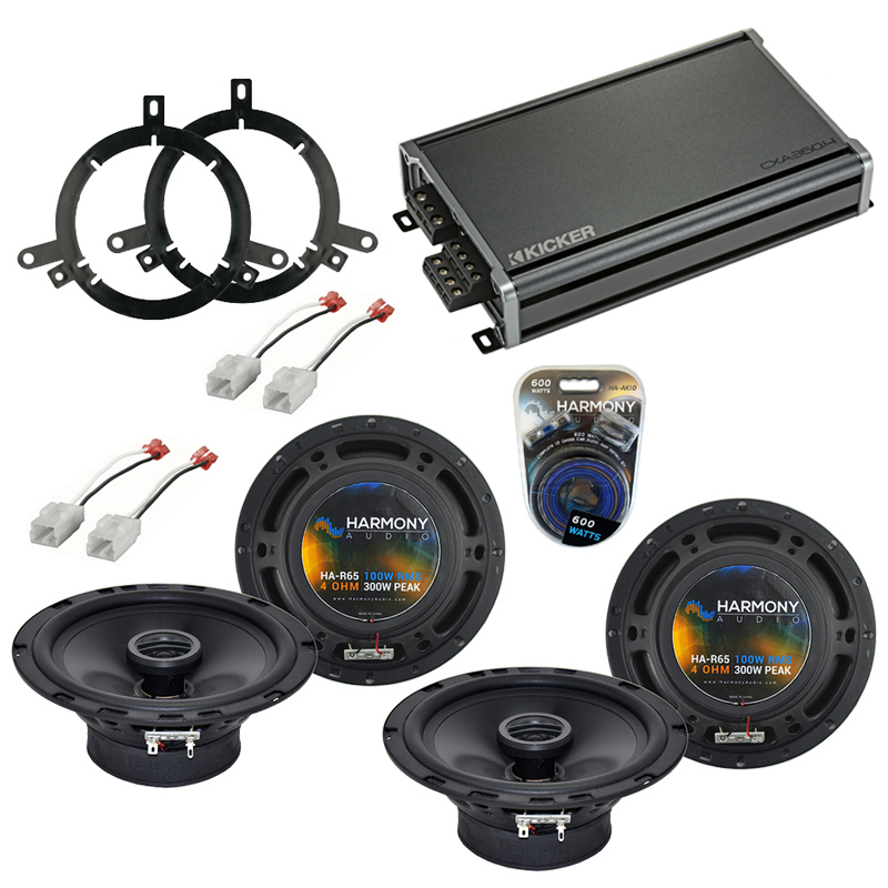 Compatible with Dodge Dakota 2002-2004 Factory Speaker Replacement Harmony (2) R65 & CXA360.4 Amp